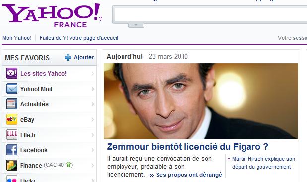 Yahoo zemmour